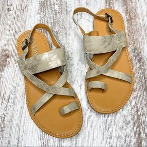 Kork by Kork-Ease Metallic Gold Open Toe Sandal